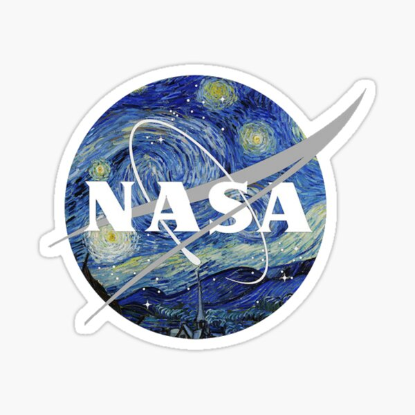 Starry Night Nasa Pegatina