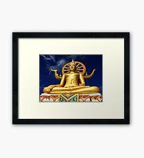 Golden Buddha Framed Print