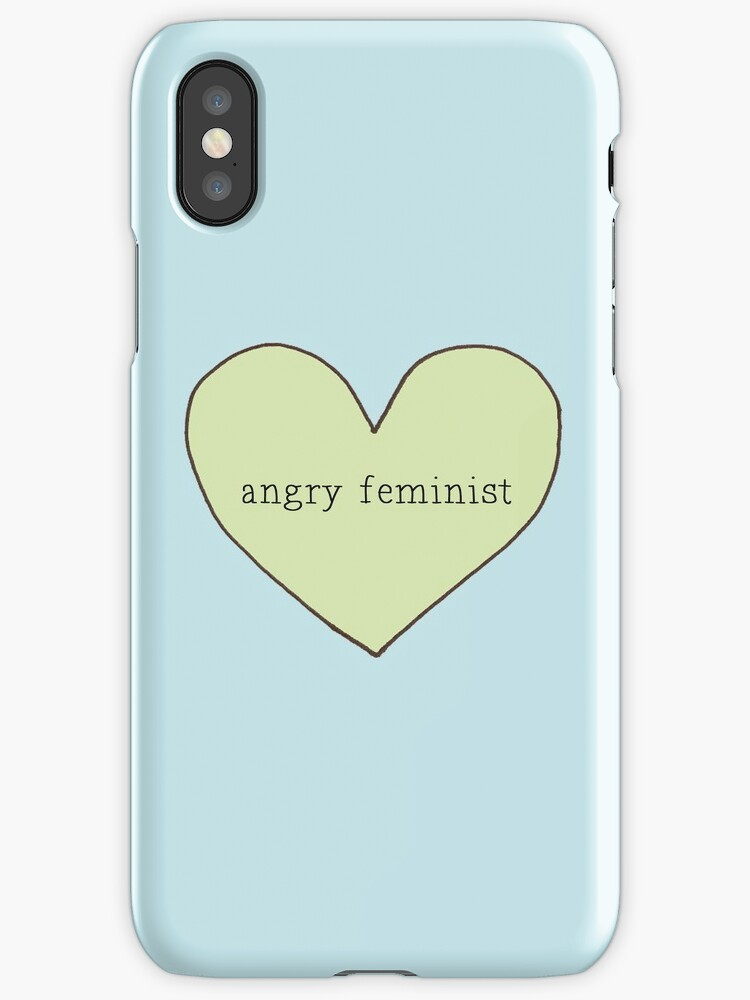 angry feminist iphone case by chlorinesam