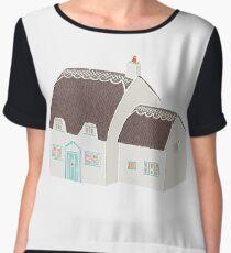 Little Cottage Drawing Women's Chiffon Top
