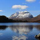Liathach Reflecting in Loch Clair by Maria Gaellman