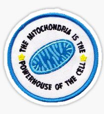 The mitochondira is the powerhouse of the cell patch Sticker