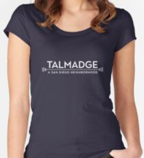 Simply Talmadge WHITE PRINT Women's Fitted Scoop T-Shirt