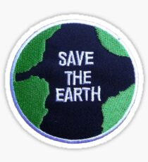 Save the earth patch Sticker