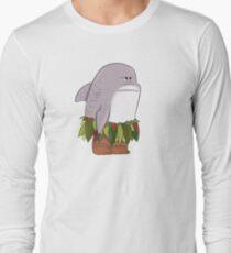 Funny Shark Head Maui Long Sleeve T-Shirt