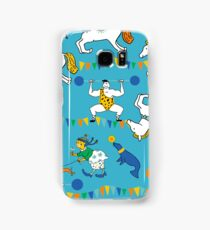Retro Circus with Strong Man, Seals, Horse Rider and Clowns Samsung Galaxy Case/Skin