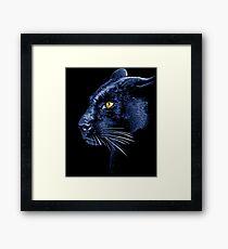 Panther profile Framed Print