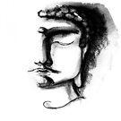 BLACK & WHITE BUDDHA by CyraCancel