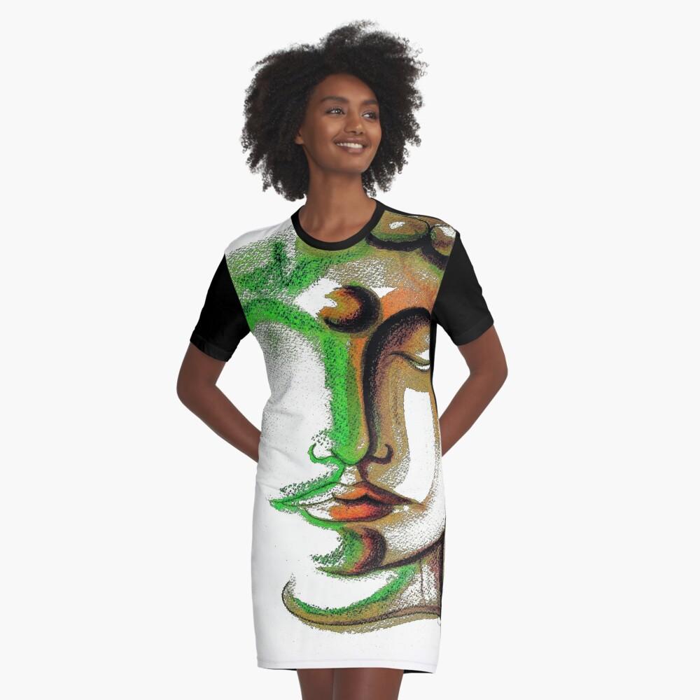 BUDDHA FACE 1 Graphic T-Shirt Dress Front