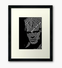 Billy Idol typography portrait Framed Print