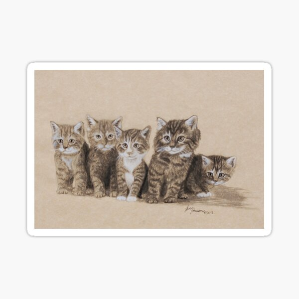 Kitten Family Sticker