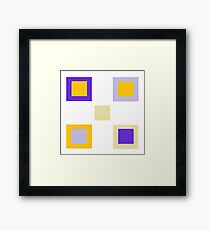 Relative Squares Framed Print