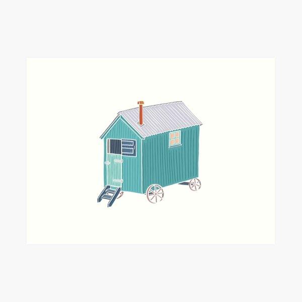 Little Shepherd Hut Drawing Art Print
