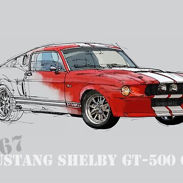 Mustang Shelby GT500 by drawspots