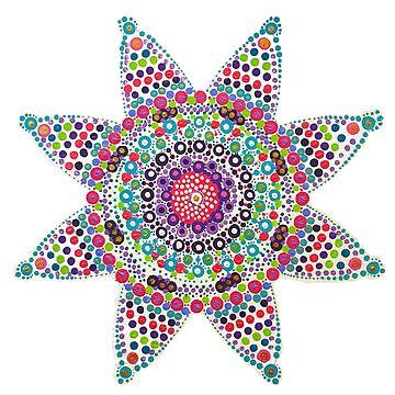 Bright Wabi-Sabi Life - Buddhist Mandala by rebeccagalardo