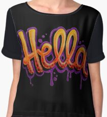 HELLA -SF in black Women's Chiffon Top