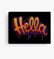 HELLA -SF in black Canvas Print