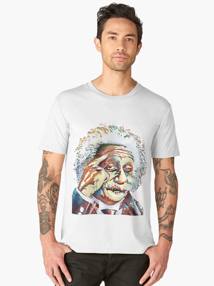 Albert Einstein Men's Premium T-Shirt Front