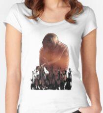 Shingeki punch Women's Fitted Scoop T-Shirt