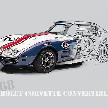 Chevrolet Corvette L88 Handmade drawing by drawspots