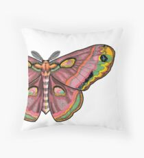 Pink Moth by Hollyce Jeffriess Throw Pillow