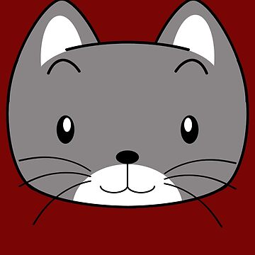 Grey Kitty T-Shirt by Fotopia