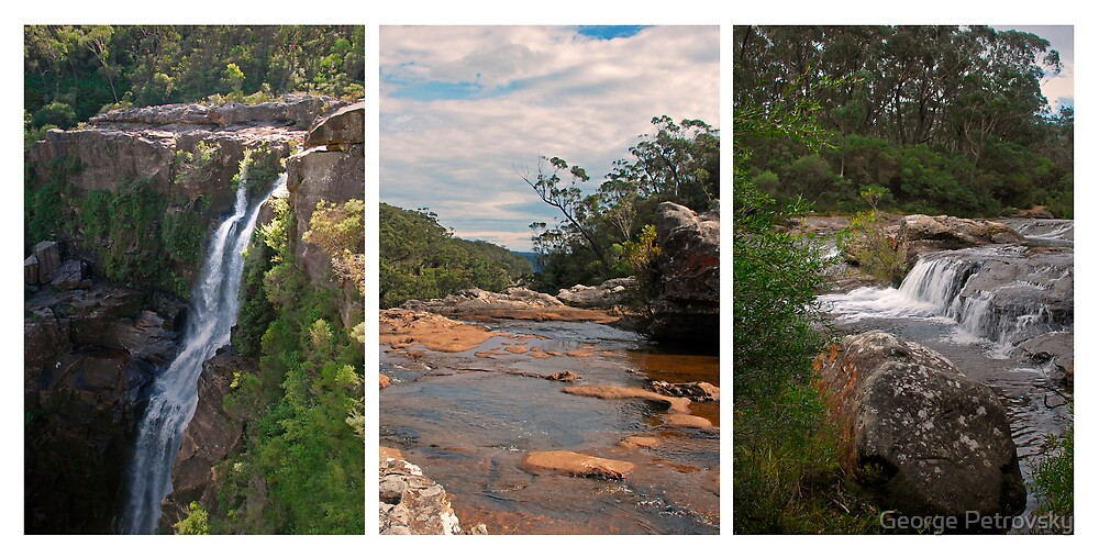 Carrington Falls Triptych # 2 by George Petrovsky