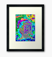 Psychedelic Project - Face - High - Psycho - Drugs Framed Print