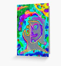 Psychedelic Project - Face - High - Psycho - Drugs Greeting Card