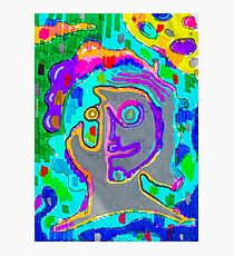 Psychedelic Project - Face - High - Psycho - Drugs Photographic Print
