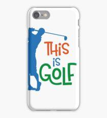 Golfer iPhone Case/Skin