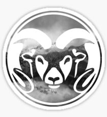 Colorado State Rams Mountains Layout Sticker