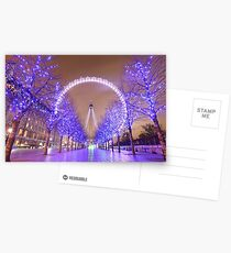 London Christmas Eye Postcards