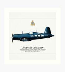 Corsair IV | Gerald Anderson (Square) Art Print