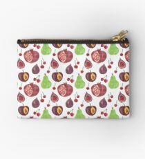 Plums Pears and Pomegranates  Zipper Pouch