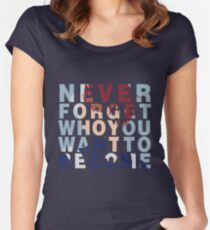 Shouto Todoroki Quote Women's Fitted Scoop T-Shirt