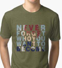 Shouto Todoroki Quote Tri-blend T-Shirt