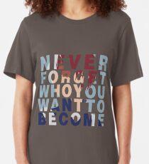 Shouto Todoroki Quote Slim Fit T-Shirt