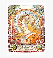 Art Nouveau - Mucha (watercolours hand reproduction) Photographic Print
