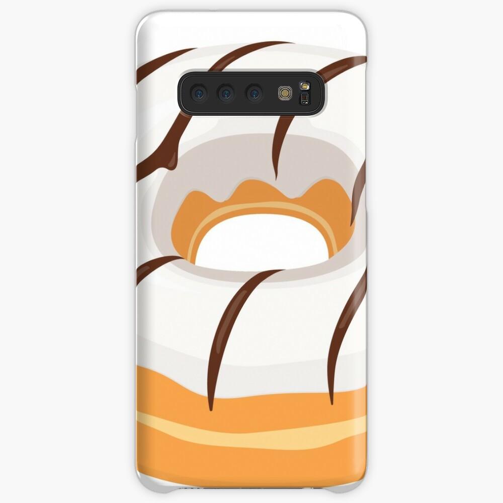 White Chocolate Glazed Donut Case & Skin for Samsung Galaxy