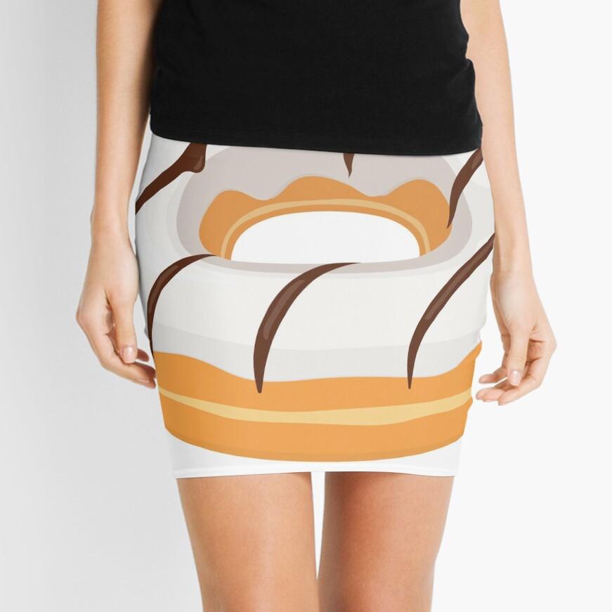 White Chocolate Glazed Donut Mini Skirt
