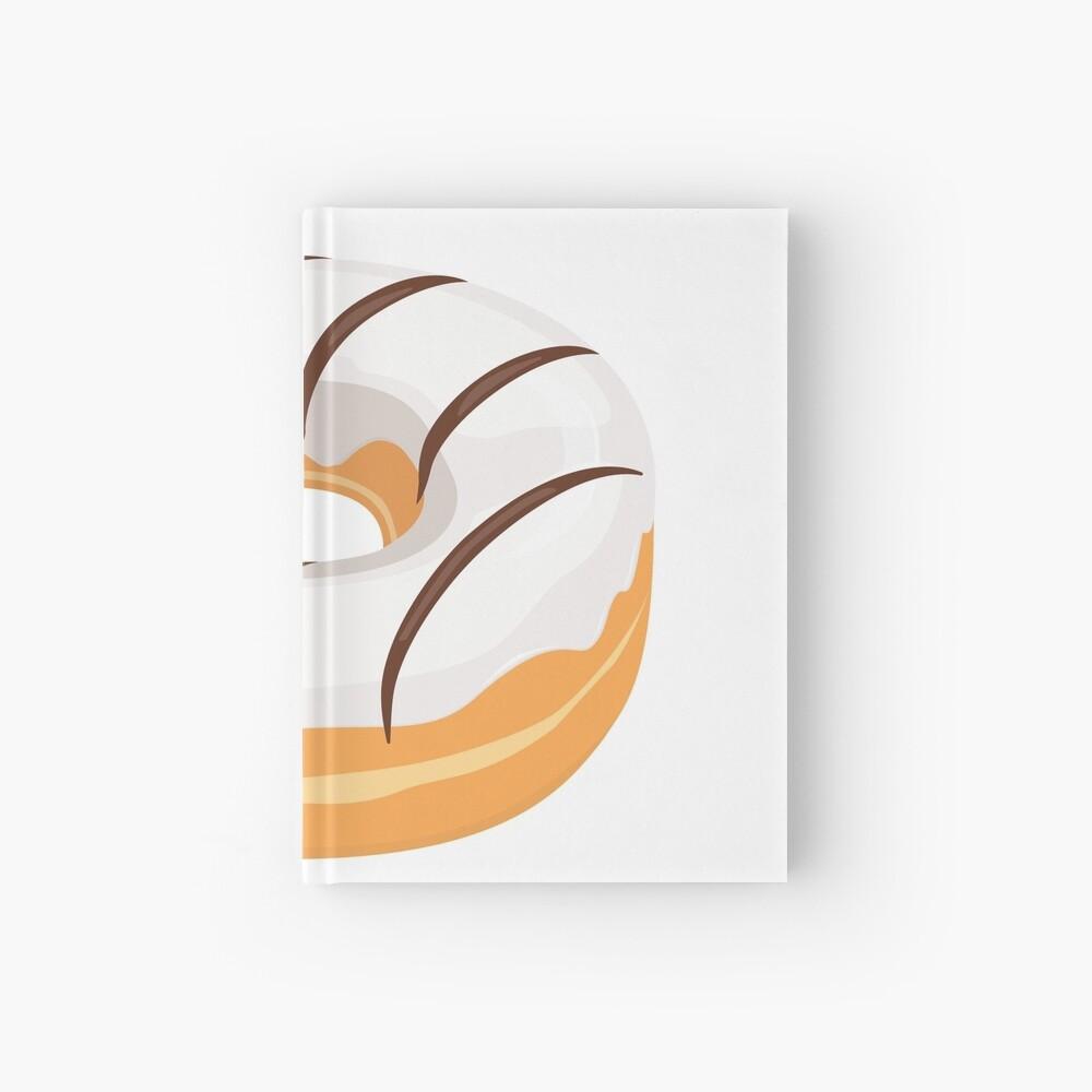 White Chocolate Glazed Donut Hardcover Journal