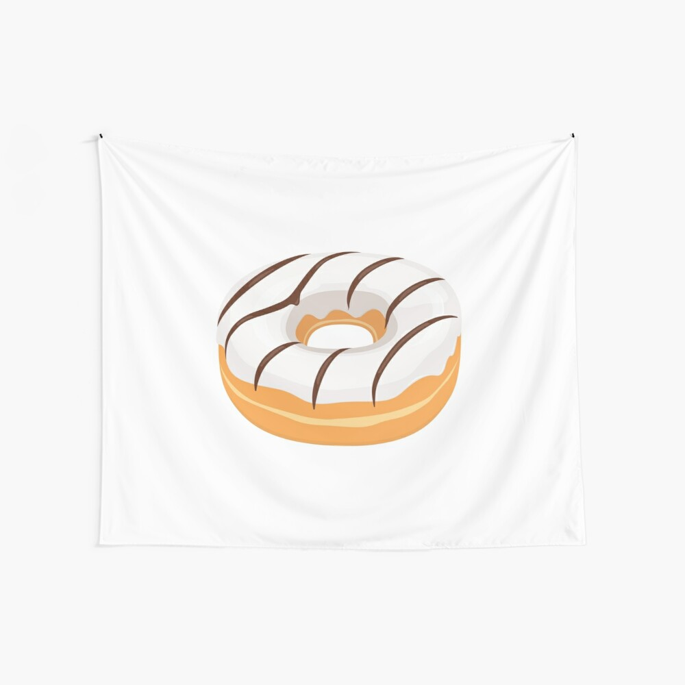 White Chocolate Glazed Donut Wall Tapestry