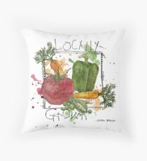 Farmers Market fresh veggies Throw Pillow