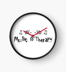 Music is therapy Clock