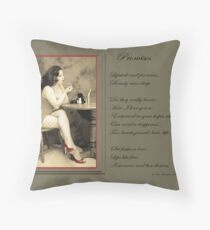 The Lady Throw Pillow
