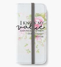 Peggy Carter Quote iPhone Wallet