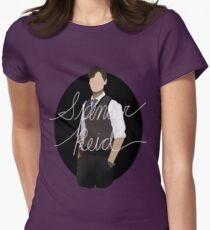 Spencer Reid / Matthew Gray Gubler Criminal Minds Sillouette Art With Name Women's Fitted T-Shirt