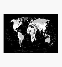 world map Photographic Print