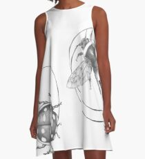 Graphite Bee and Lady Bug A-Line Dress
